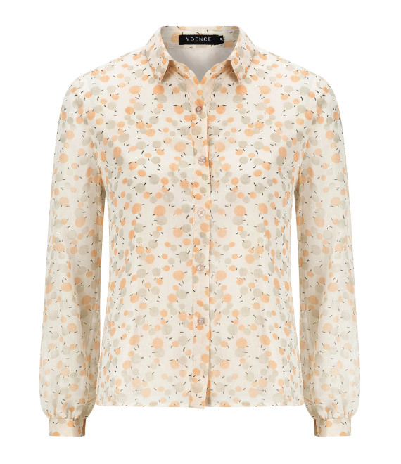 Blouse Michelle Peach Dot Print